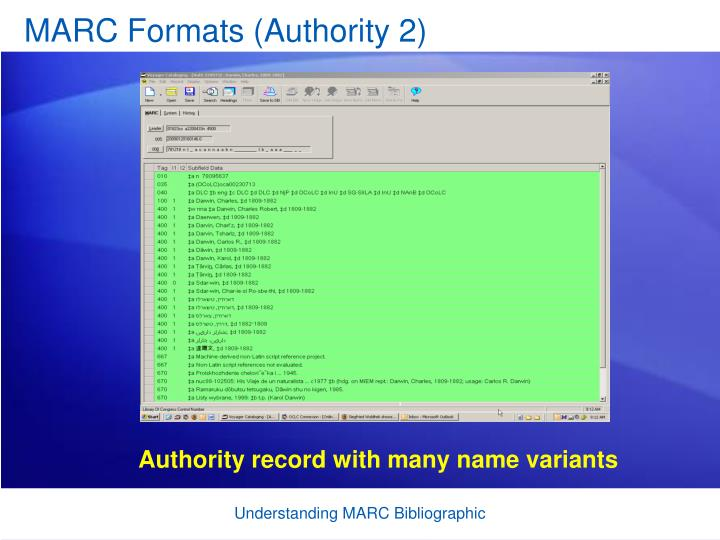 MARC Formats (Authority 2)