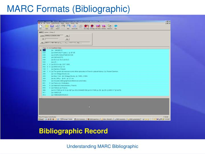 MARC Formats (Bibliographic)