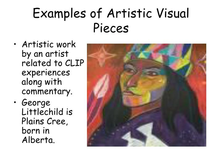 Examples of Artistic Visual Pieces