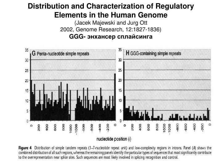 Distribution and Characterization of Regulatory