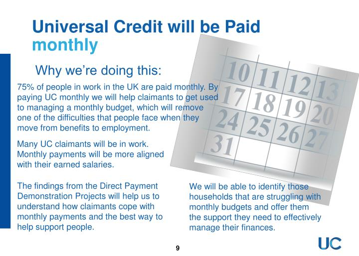 Universal Credit will be Paid