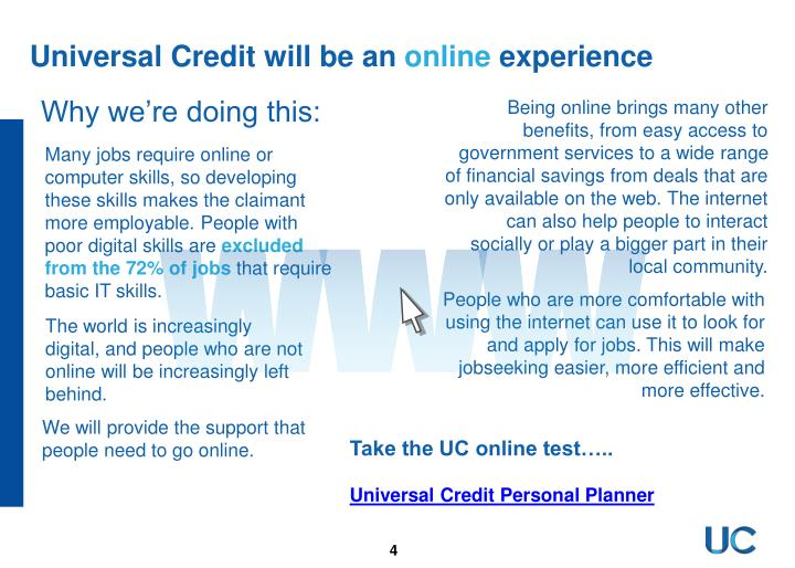 Universal Credit will be an