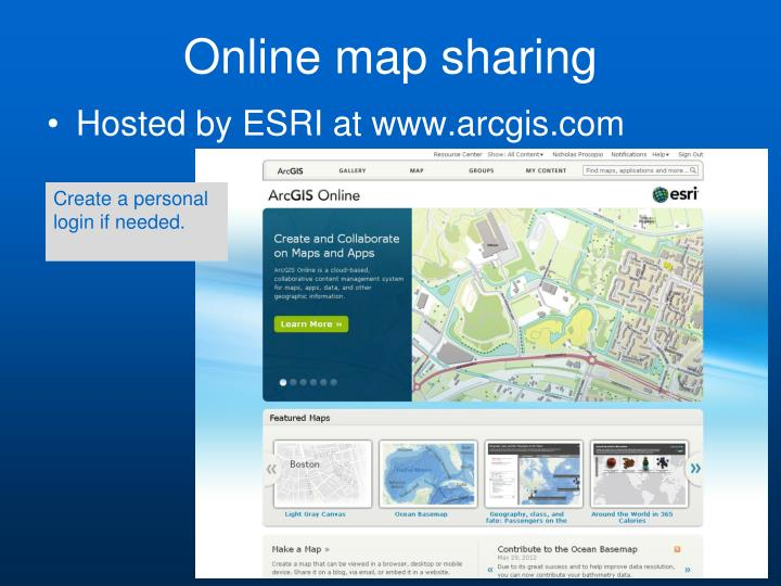 Online map sharing