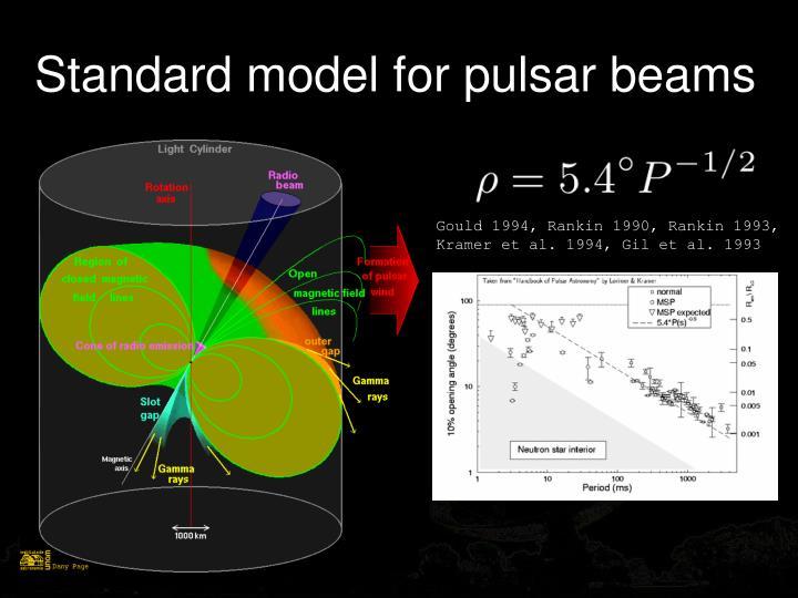 Standard model for pulsar beams