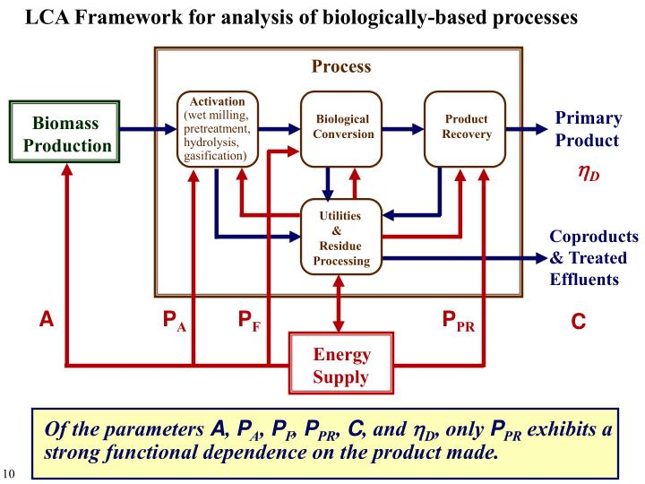 LCA Framework for analysis of biologically-based processes