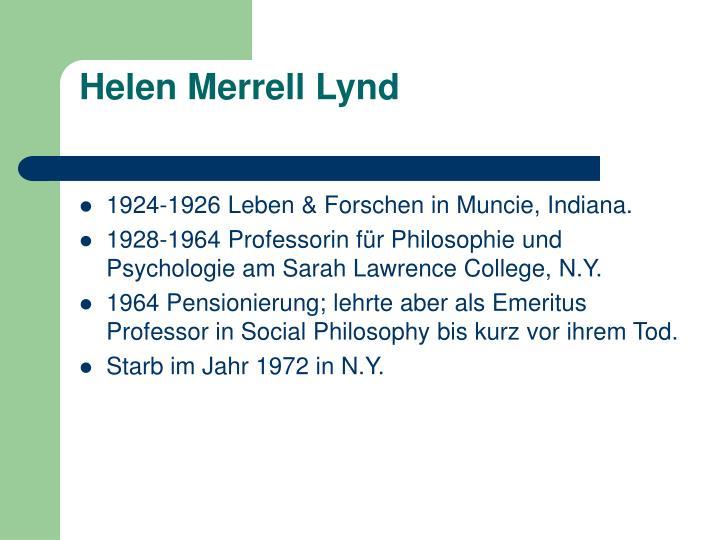 Helen Merrell Lynd