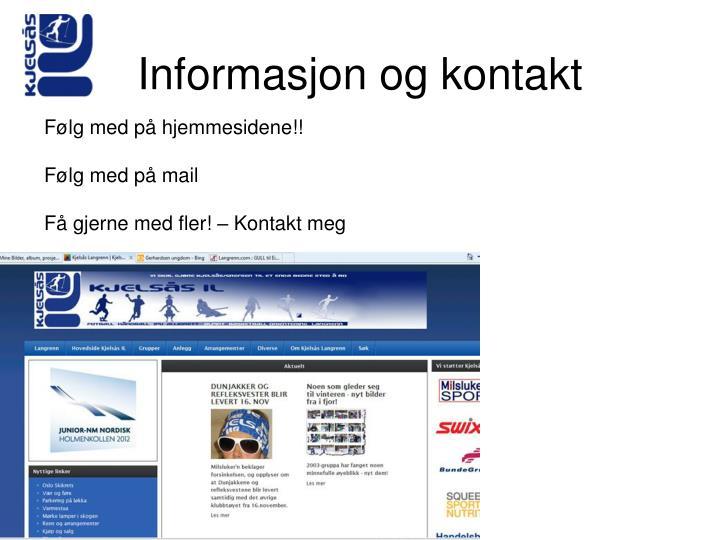 Informasjon og kontakt