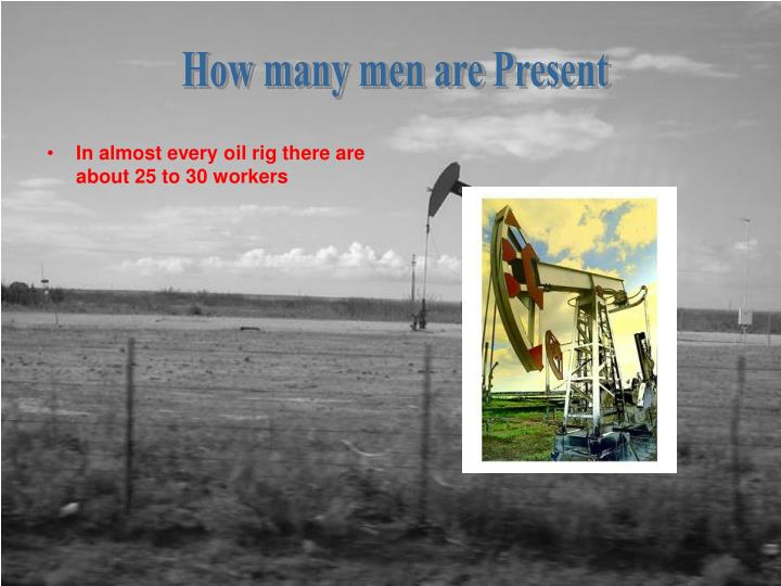 How many men are Present