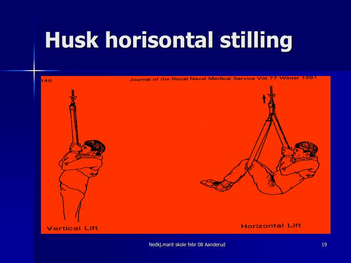 Husk horisontal stilling