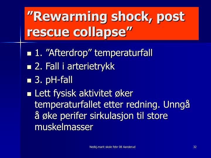 """Rewarming shock, post rescue collapse"""