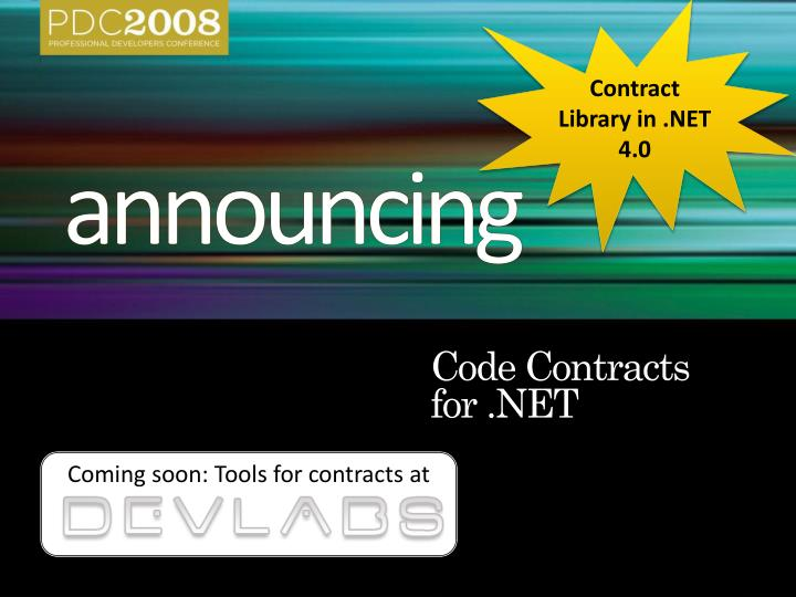 Contract Library in .NET 4.0