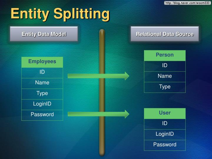 Entity Splitting