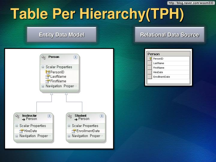 Table Per Hierarchy(TPH)
