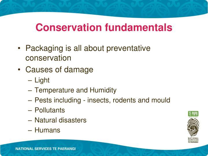 Conservation fundamentals