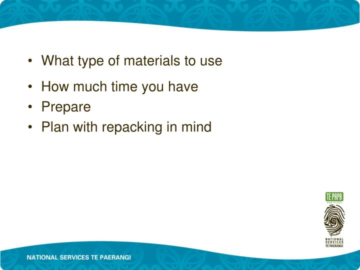 What type of materials to use