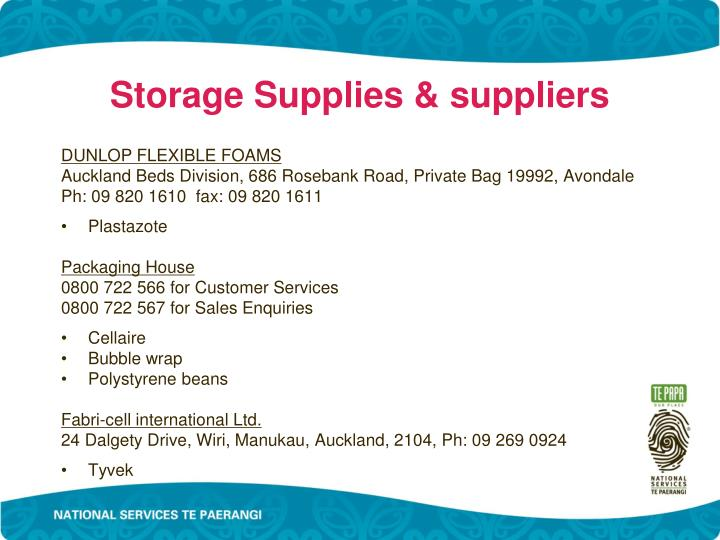 Storage Supplies & suppliers
