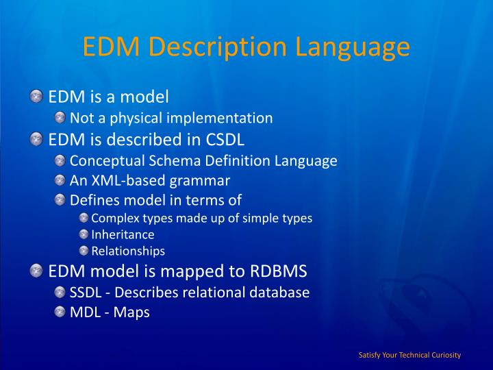 EDM Description Language