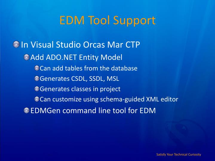 EDM Tool Support