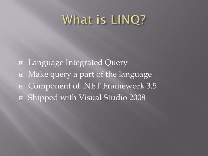 What is linq