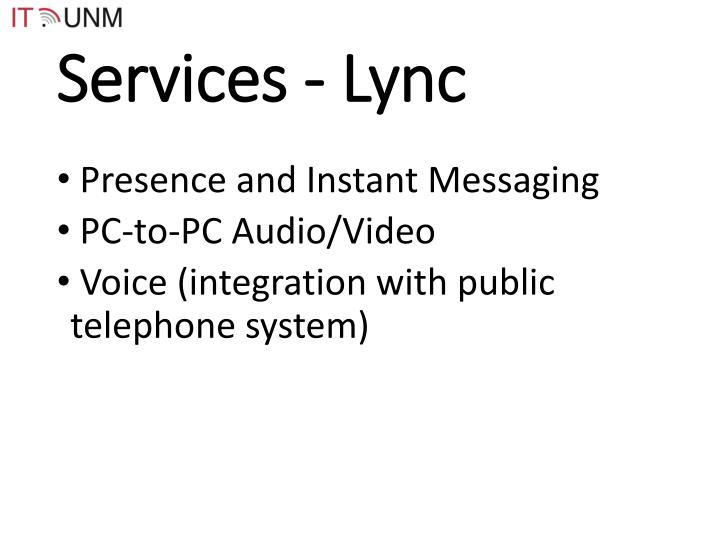 Services - Lync