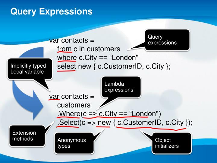 Query Expressions