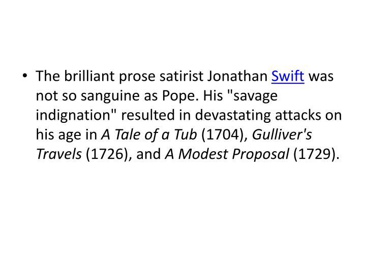 The brilliant prose satirist Jonathan