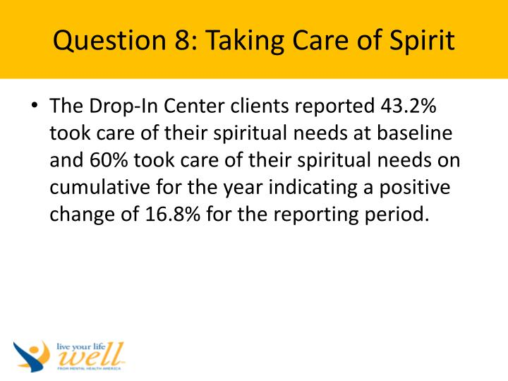 Question 8: Taking Care of Spirit
