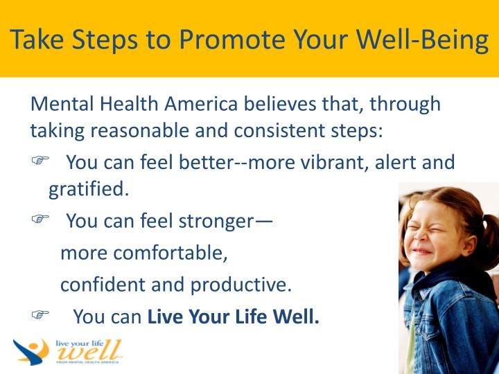 Take Steps to Promote Your Well-Being