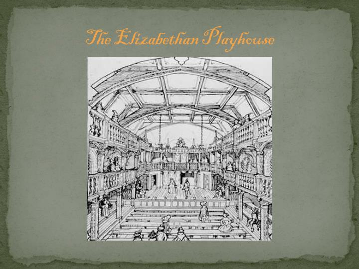 The Elizabethan Playhouse