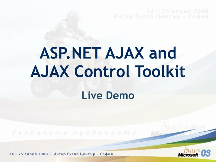 ASP.NET AJAX and AJAX Control Toolkit