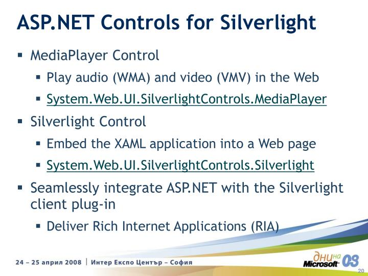 ASP.NET Controls for Silverlight