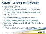 asp net controls for silverlight