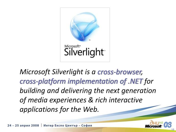Microsoft Silverlight is a