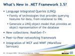 what s new in net framework 3 5