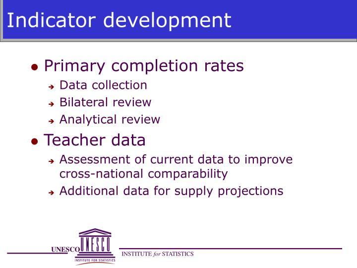 Indicator development