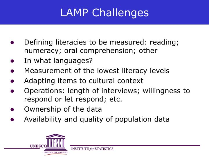 LAMP Challenges