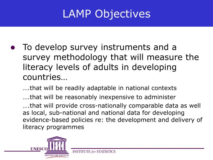 LAMP Objectives