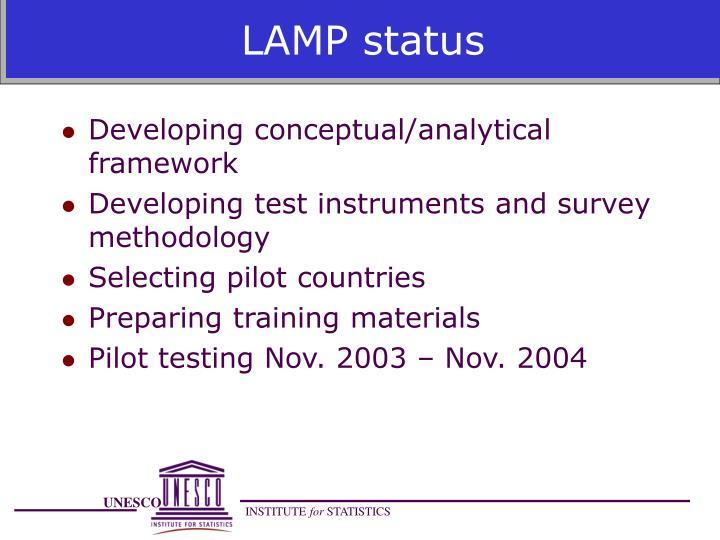 LAMP status