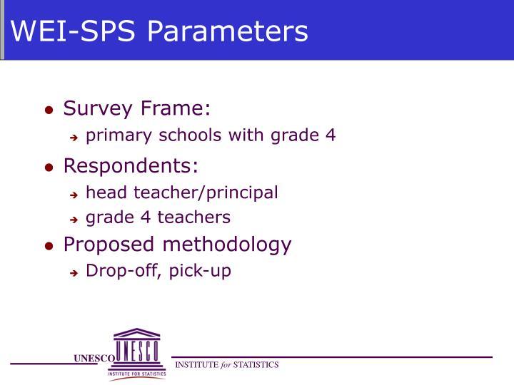 WEI-SPS Parameters