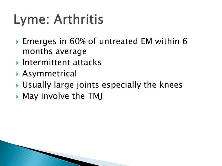 Lyme: Arthritis