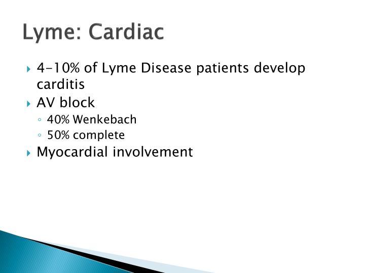 Lyme: Cardiac