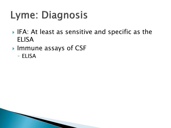 Lyme: Diagnosis