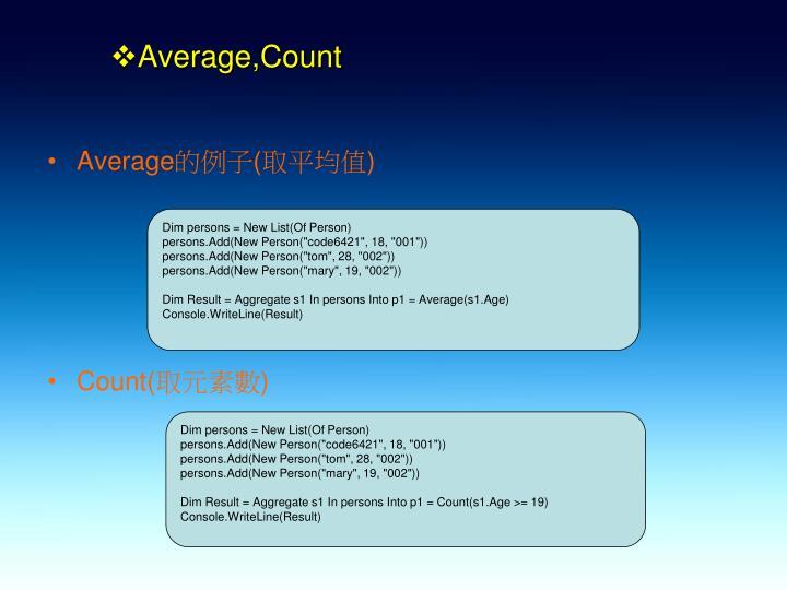 Average,Count