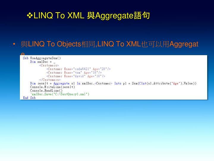 LINQ To XML