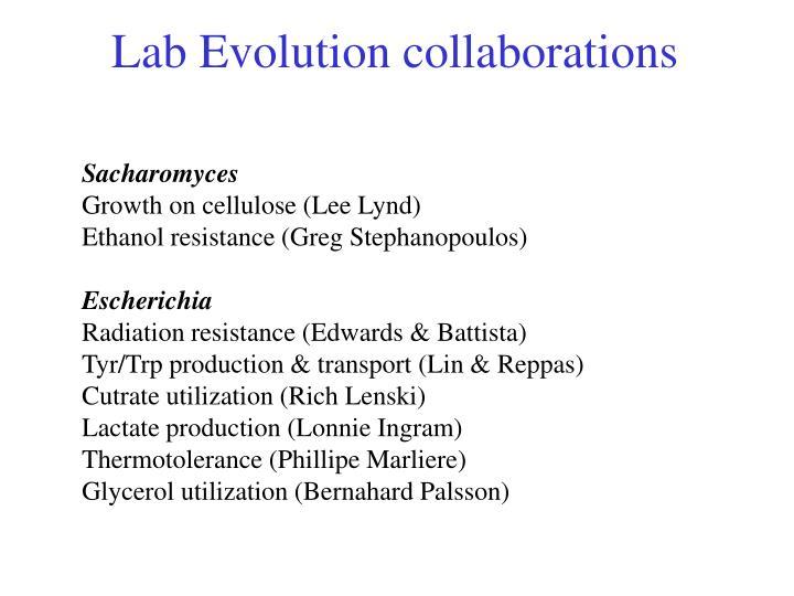 Lab Evolution collaborations