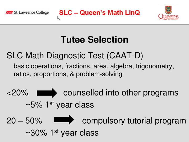Tutee Selection