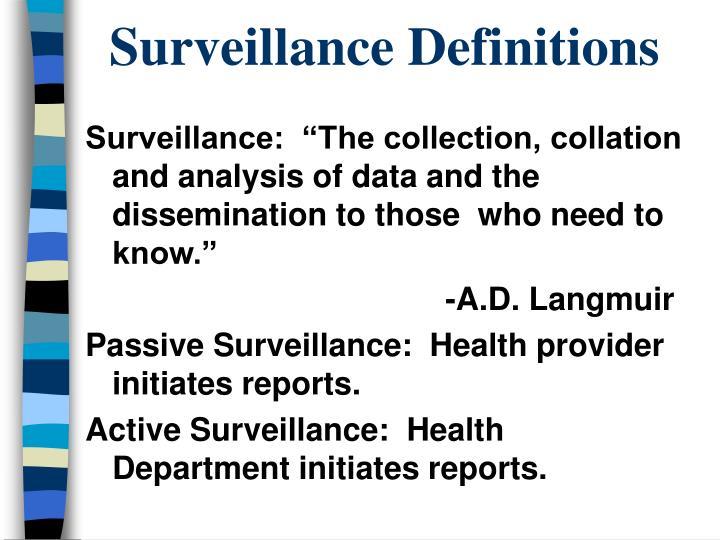 Surveillance Definitions