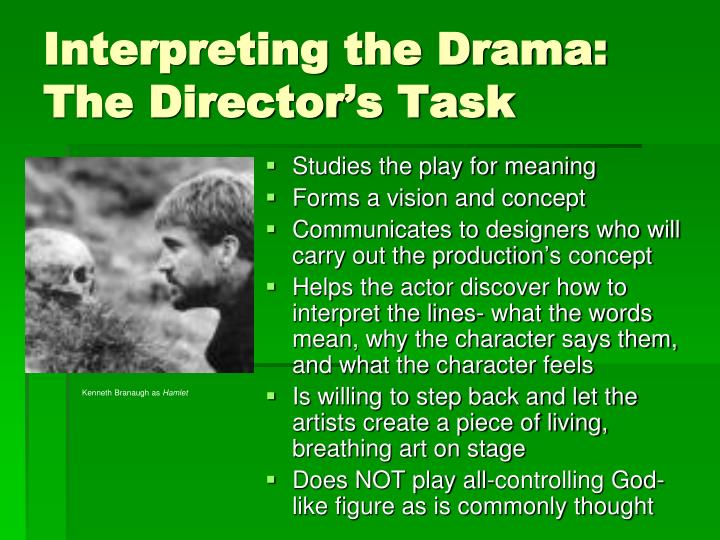 Interpreting the Drama:  The Director's Task