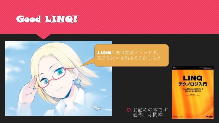 Good LINQ!