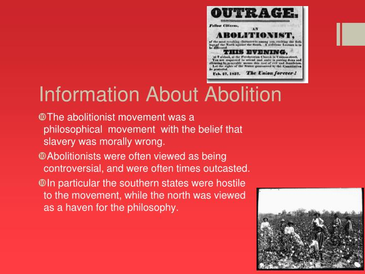Information about abolition